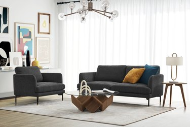 Couch and chair in living room