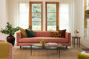 joybird midcentury modern sofa