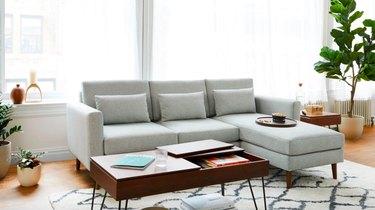 burrow midcentury modern sofa