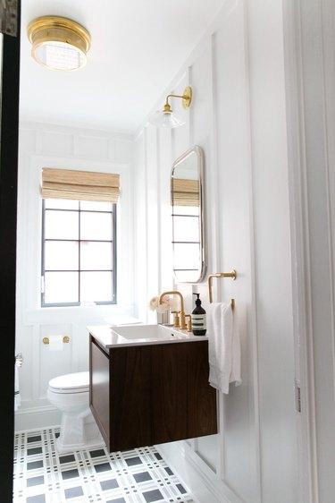 Gold flush mount bathroom lighting