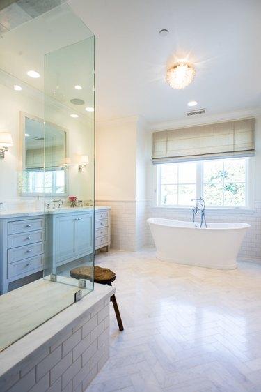 Bright flush mount bathroom lighting