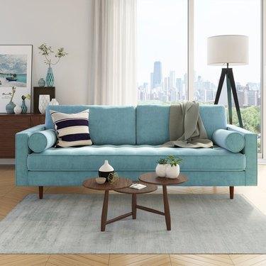 allmodern midcentury modern sofa