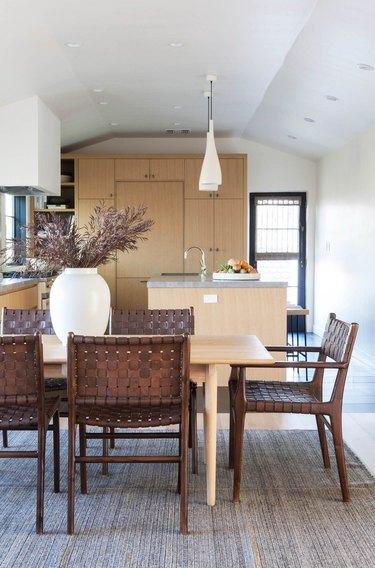 coastal kitchen with limestone counertops