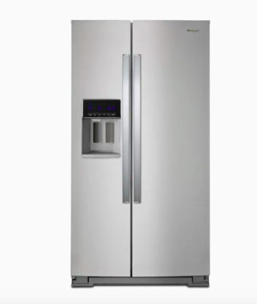 Whirlpool 28.4 Cubic Feet Side-By-Side Refrigerator with Exterior Ice and Water Dispenser and In-Door-Ice Storage