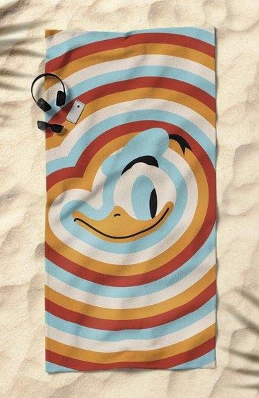 Disney x Society6 Donald Beach Towel, $50.00