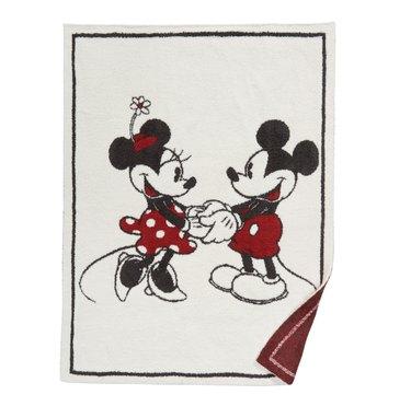 Disney x Barefoot Dreams® CozyChic™ Classic Mickey & Minnie Baby Blanket, $78.00