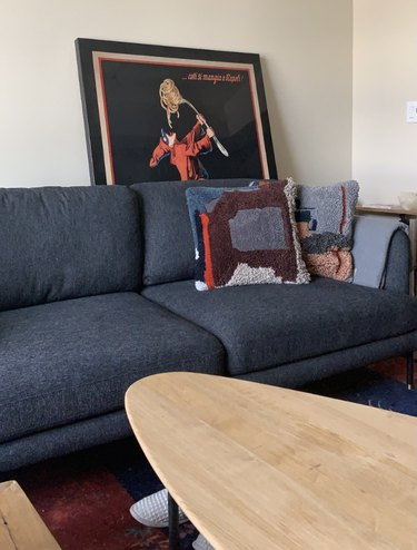 Couch in Erin's apartment