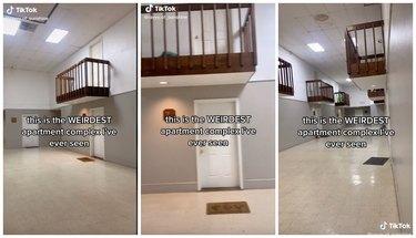indoor balconies apartment complex