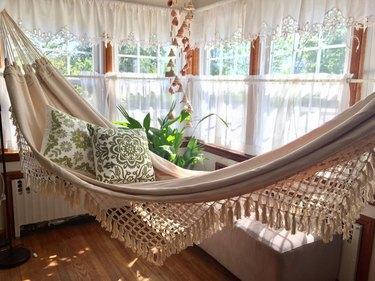fringe indoor hammock