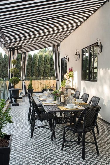 fabric awning patio cover