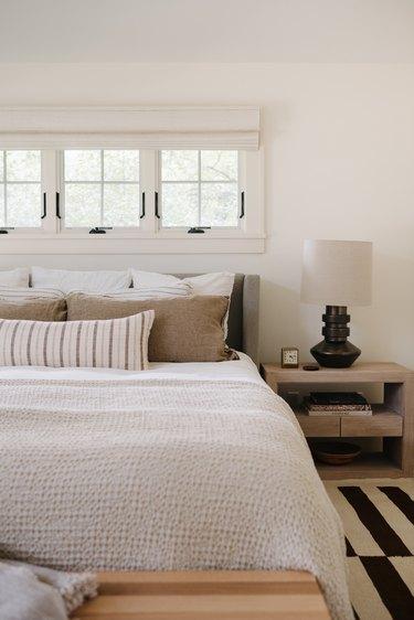 Neutral color palette bedroom