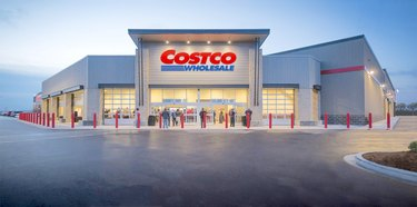 costco warehouse with people outside