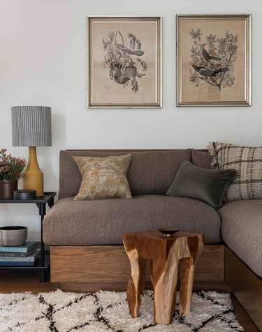 Neutral color palette living room by Heidi Caillier Design
