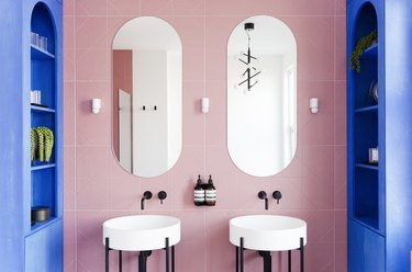 These Pink Bathroom Backsplash Ideas Are Sweet as Punch