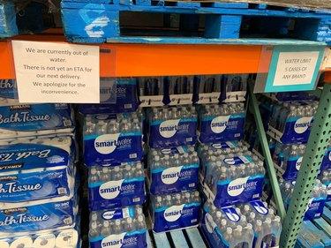 Costco water shortage