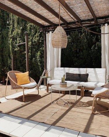 bamboo reed garden fencing patio cover