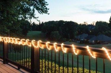 Robe lights on deck rail