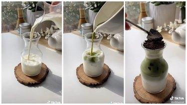 potted plant matcha tiktok