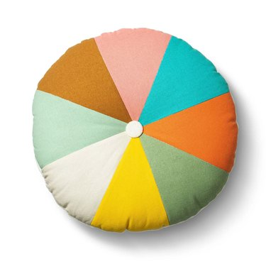 multicolored round kids throw pillow
