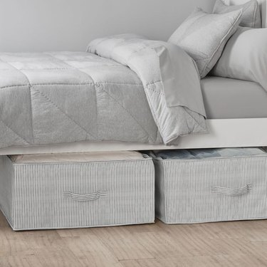 Pottery Barn Dorm Recycled Stuff and Store Underbed Storage Bins