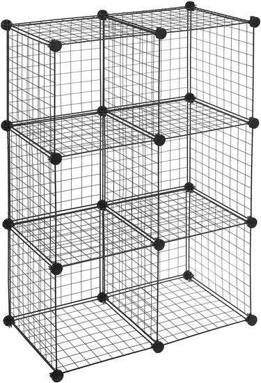 Amazon Basics 6-Cube Grid Wire Storage Shelves