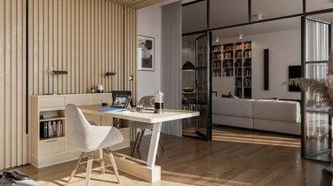 studio space with desk area