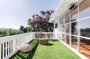 Deck with astro turf