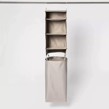 Room Essentials Hanging Closet Organizer with Detachable Hamper