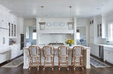 Modern craftsman kitchen with shiplap
