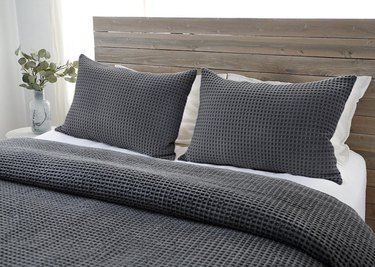 Grey waffle blanket