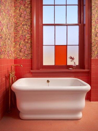 A bathroom at Hotel Saint Vincent.