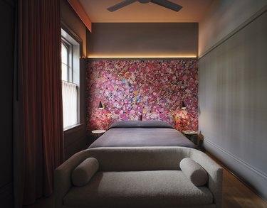 A guestroom at Hotel Saint Vincent.