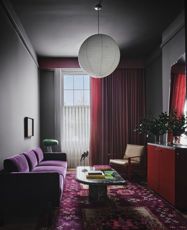 A guest room at Hotel Saint Vincent.