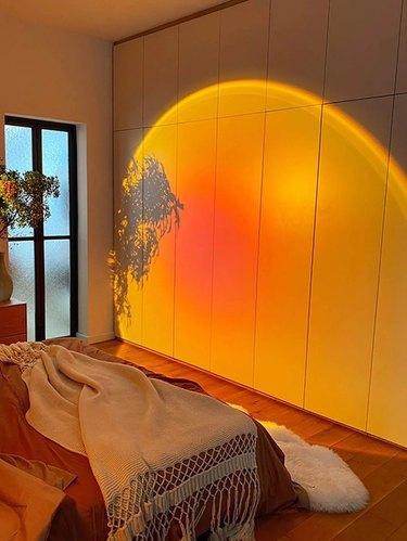 Sunset light in room
