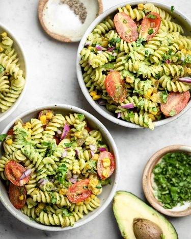 The Mindful Hapa Avocado Pasta Salad