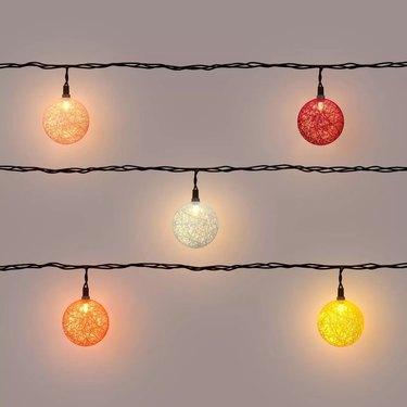 Colorful orb string lights