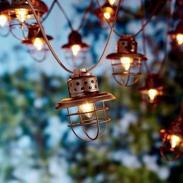 Cage string lights