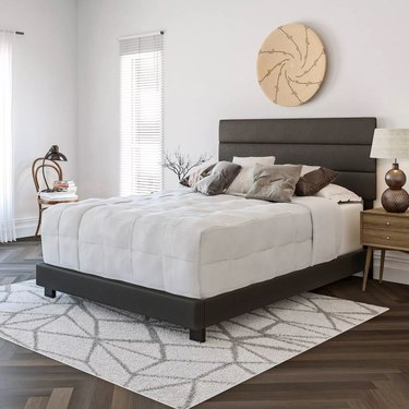 Eco Dream Caprice Faux Leather Channel Upholstered Platform Bed