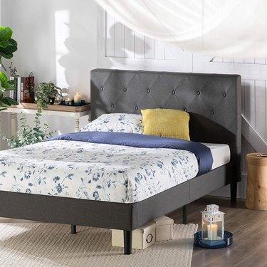 Zinus Shalini Upholstered Platform Bed Frame