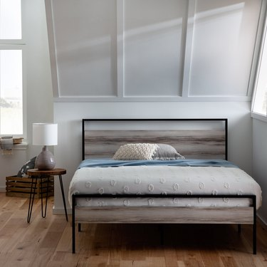 Industrial Lodge Home Andrews Platform Bed Frame with Headboard