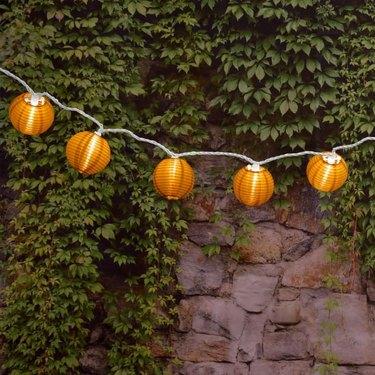 Orange lantern string lights