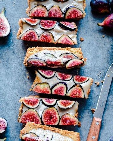 Rainbow Plant Life Vegan Fig Tart With Coconut-Cashew Cream
