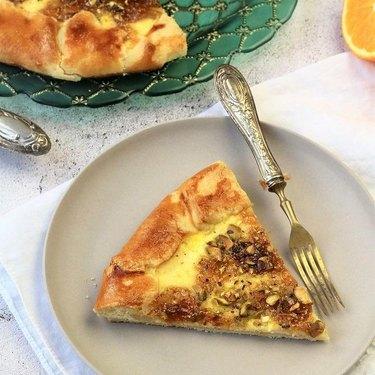 Mangia Bedda Fig Jam, Ricotta, and Pistachio Crostata