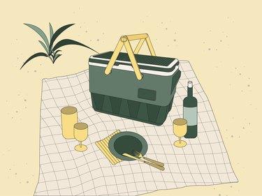 illustration of portable cooler