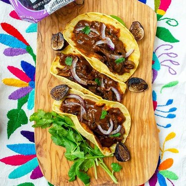 Dora's Table Fig Mole Mushroom Tacos