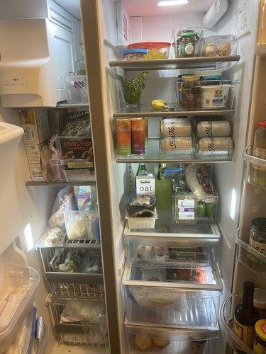 My fridge and freezer after organizing