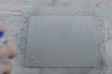 Spraying glass with silver mirror spray paint