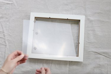 Removing glass from IKEA picture frame