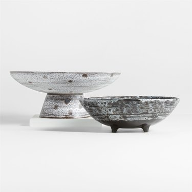 gray ceramic bowls