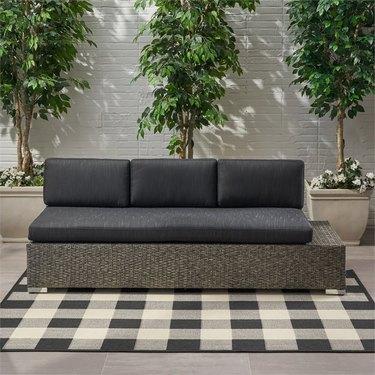 Modern wicker couch